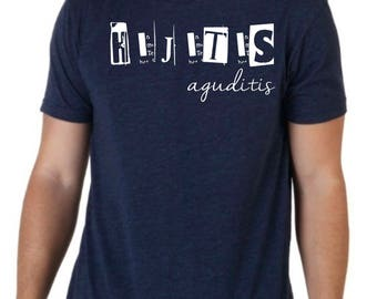 Round neck men short sleeve t-shirt HIJITIS AGUDITIS