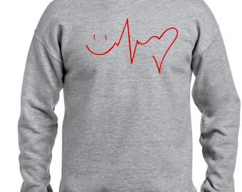 Men sweater HAPPINESS HEALTH LOVE
