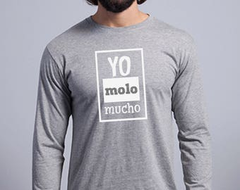 Round neck men long sleeve t-shirt YO MOLO MUCHO