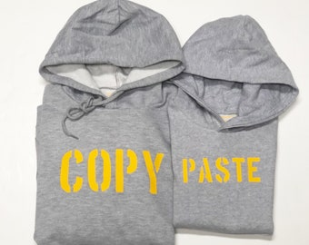 Pack long sleeve grey hoodies COPY + PASTE (adult + child/baby)