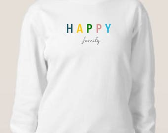 Round neck women sweater HAPPY FAMILY