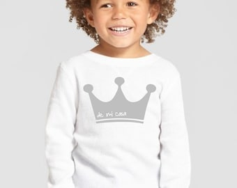 Boy/girl/baby t-shirt or body SHORT CROWN
