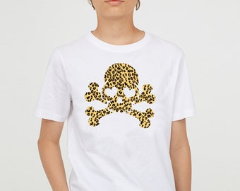 Boy t-shirt or body SKULL ANIMAL PRINT