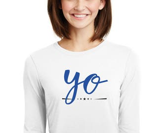 Round neck women t-shirt YO