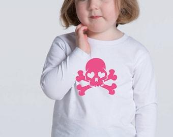 Boy/girl/baby t-shirt or body GLITTER SKULLS