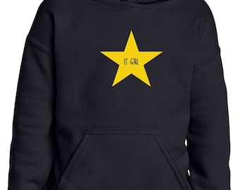 Girl hoodie IT GIRL in a STAR