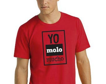 Round neck men short sleeve t-shirt YO MOLO MUCHO