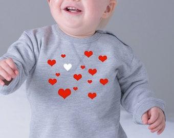 Girl sweater HEARTS