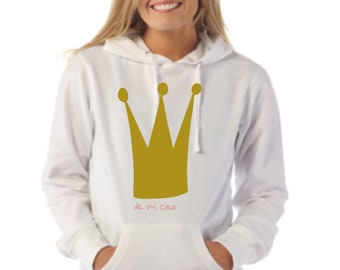 Round neck women hoodie CROWN