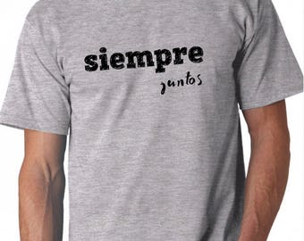Round neck men short sleeve t-shirt SIEMPRE JUNTOS
