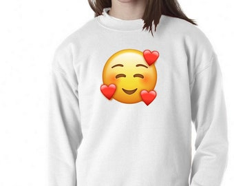 Sweatshirt or sweater for boys and girls with the selected emoji
