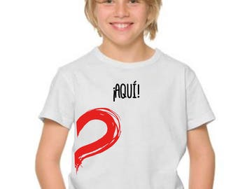 Boy t-shirt or body ¡AQUI! HALF HEART