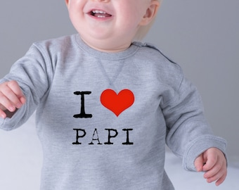 Girl sweater I LOVE MAMI / PAPI