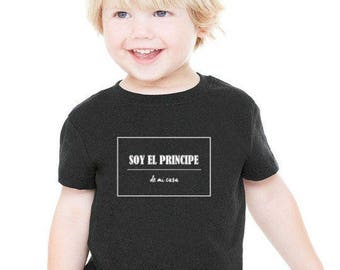 Boy black t-shirt or body SOY EL Principe de mi casa