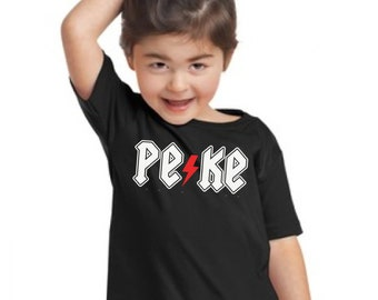 Girl or boy (unisex) t-shirt or body PEKE thunder