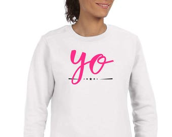 Round neck women sweater YO