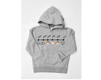 Hoodie for women YOUR HISTORY map metro subway chronology