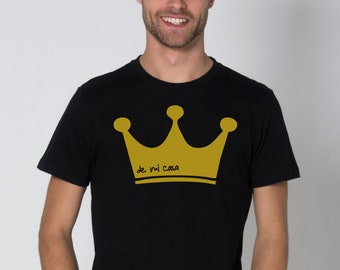 Round neck men short sleeve t-shirt CROWN (de mi casa)