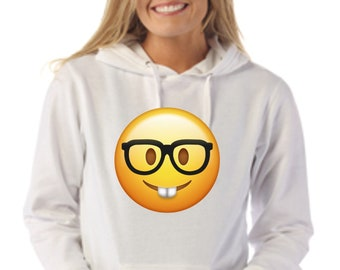 Women hoodie with the selected emoji