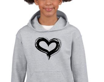 Boy Girl hoodie HEART
