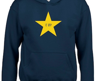 Boy hoodie IT BOY in a STAR