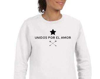 Round neck women sweater UNIDOS POR el AMOR