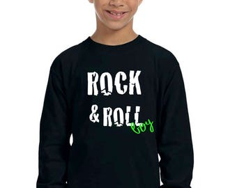 Round neck boy t-shirt or body ROCK & ROLL BOY