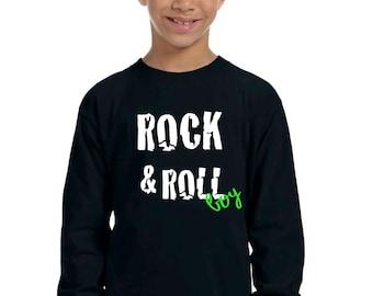 Round neck boy t-shirt ROCK & ROLL BOY