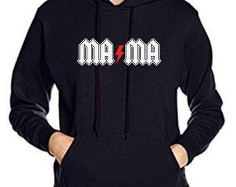 Round neck women hoodie MA MA THUNDER