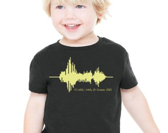 Babies or kids t-shirt or sweater VOICE WAVES. Exclusive moments