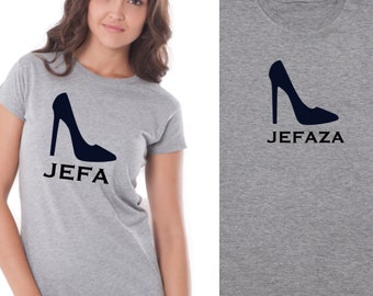Pack short sleeve black t-shirts JEFA - JEFAZA stiletto (adult + child/baby)