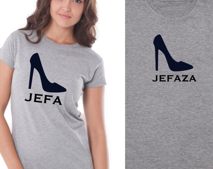 Featured listing image: Pack short sleeve black t-shirts JEFA - JEFAZA stiletto (adult + child/baby)