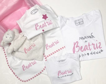 Newborn t-shirt LAYETTE (mom and baby), CUSTOMIZED