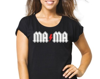 Women tee MAMA THUNDER ROCK