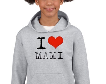 Boy Girl hoodie I LOVE MAMI-PAPI
