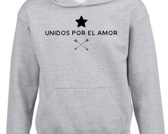 Boy Girl hoodie UNIDOS por el AMOR