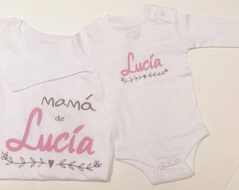 Newborn t-shirt pack (mom and baby), CUSTOMIZED