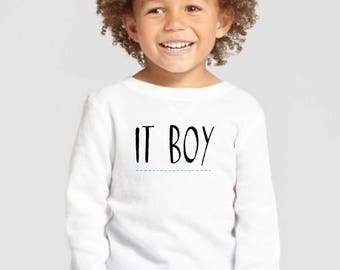 Round neck boy t-shirt or body IT BOY