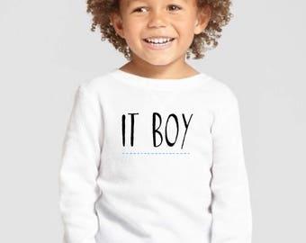 Round neck boy t-shirt IT BOY