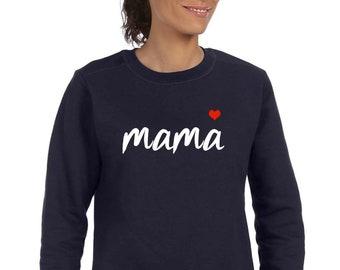 Round neck women sweater MAMA