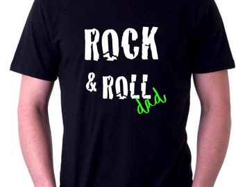 Round neck men short sleeve t-shirt ROCK & ROLL DAD
