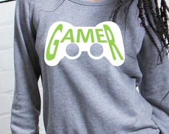 Round neck women sweater GAMER