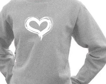 Round neck women sweater HEART