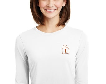 Round neck women t-shirt KEY - PADLOCK