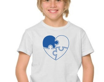 Boyt-shirt or body PUZZLE HEART