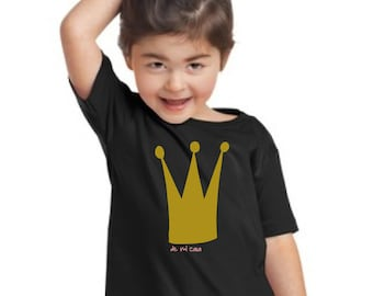 Girl t-shirt or body GLITTER CROWN (de mi casa)