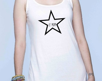 Round neck women t-shirt STAR IT MUM