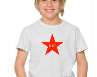 Boy t-shirt or body STAR IT BOY
