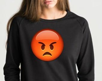 Women sweater sweatshirt with the selected emoji