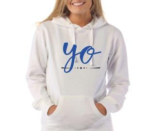 Round neck women hoodie YO